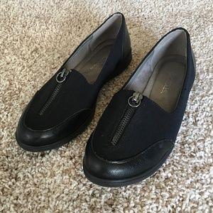 AEROSOLES  Black Memory Foam Slip-on Shoes